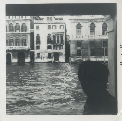 Polaroid of Arakawa in Venice (Jun 1969)