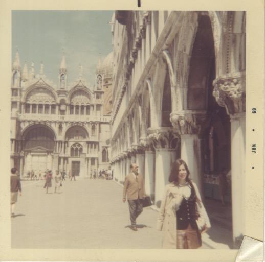 Polaroid of Madeline in Venice (Jun 1969)